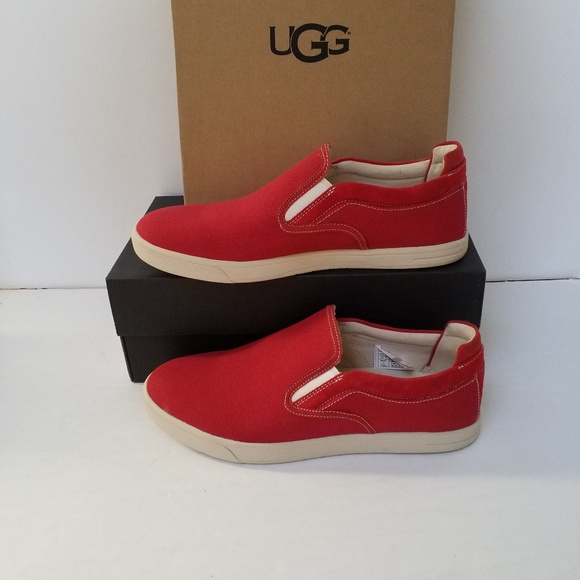 a8f948d16c0 New UGG mens red loafers Size 10 NWT